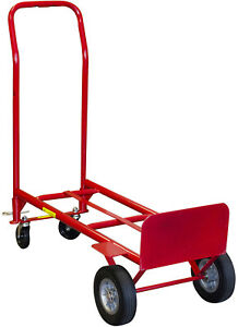 Convertible 2 in 1 Hand Truck Trolley Heavy Duty Powder coated 6