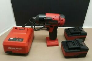 Snap On 18v 3 8 Drive Cordless Impact Wrench Ct8810a With Battery And Charger