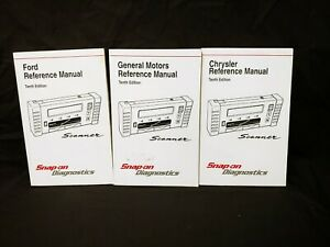 Snap On Mt2500 Scanner Gm Chrysler Ford Reference Manuals 10th Edition