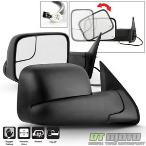 Left Right Flip Up Power Heated Tow Mirrors For 2005 2015 Toyota Tacoma Pickup