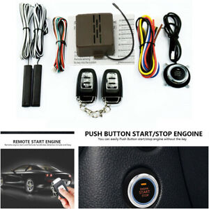 8pcs Car Suv Alarm System Engine Start Push Button Remote Starter Keyless Entry