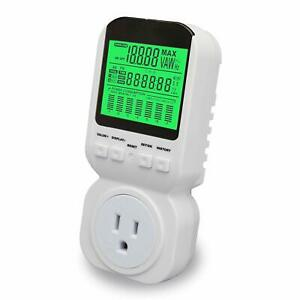 Power Energy Meter electricity Usage Monitor Plug With High Accuracy large Lcd D
