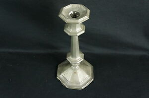 Nice Antique Pewter Candlestick No Marks Mid 19thc 9 1 2 Y8 W7 A8