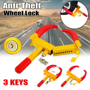 Safe Parking Boot Wheel Tire Lock Clamp Anti Theft Claw Towing For Boat Car Rv