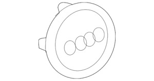 Genuine Audi Center Cap 8w0 601 170