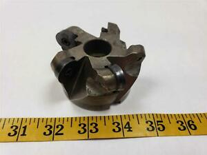 Ingersoll 3 Round Insert Indexable 5t Shell Face Mill 1 Arbor