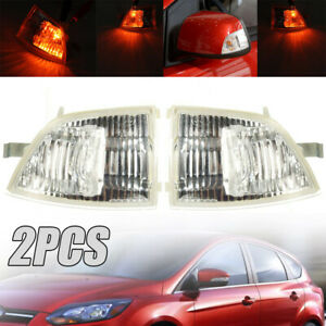 2x Wing Mirror Indicator Lens Light Set Repeater For Ford Focus St Cabriolet