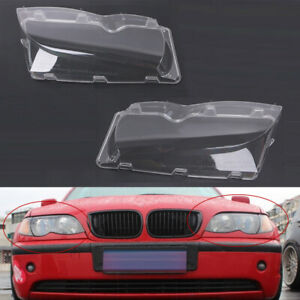 Fit For Bmw E46 3 Series 2002 2006 Polycarbonate Headlight Glass Lens Lamp Cover