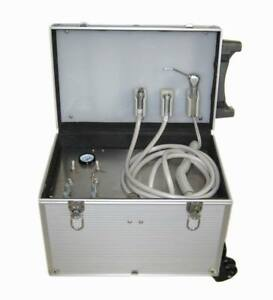 Dental Portable Mobile Turbine Unit Aluminium Alloy Case 2 4 Holes 350w 60l min