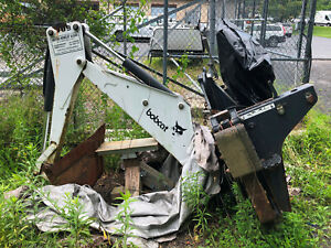 Bobcat 709 Fds Backhoe Skid Steer Attachment W 12 Bucket Backhoe Attachment