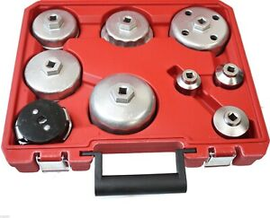 9pc Comprehensive Oil Filter Wrench Valve Collet Installing Pick Up Tool