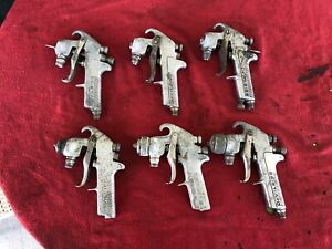 Lot Of 6 Vintage Devilbiss Jga 510 Spray Paint Gun Bodies Parts Or Repair Lot 1