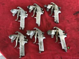 Lot Of 6 Vintage Devilbiss Jga 510 Spray Paint Gun Bodies Parts Or Repair Lot 2