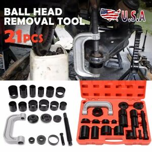 21pcs Ball Joint Master Auto Repair Remove Installer Adapter C Frame Pickup 4wd
