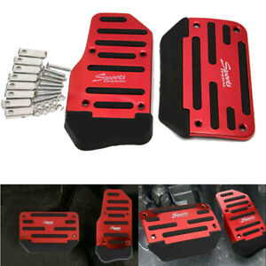 J469 Red Automatic Car Suv Non Slip Accelerator Brake Foot Pedal Treadle Cover
