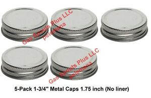 5 pack 1 3 4 Steel Caps Gallon Oil Can Gas Eagle Ironsides 1 75 Inch Metal Lids