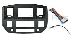 Mounting Panel Dash Kit Black Slate Grey Install Aftermarket Double Din Radio