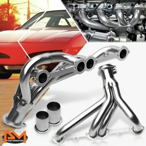 For 78 91 Firebird Camaro Small Block V8 Stainless Steel Exhaust Header Manifold