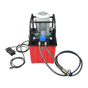 Double Acting 10000 Psi Hydraulic Pump Solenoid Valve 9 5 Gallon 110v Electric