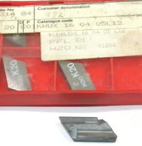 Lot Of 5 New Sandvik Indexable Turning Carbide Inserts Knux 160405l12 K20