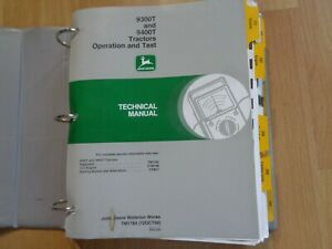 John Deere 9300t 9400t Tractor Technical Operation Tests Manual Tm1784