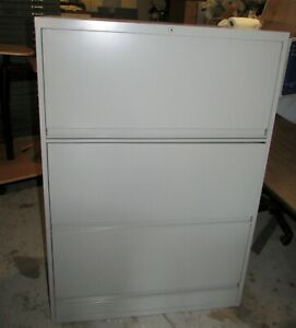 Used Lateral File Cabinet 3 Flipper Drawers