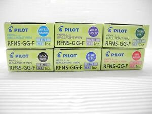6 Color X 12 Refill Rfns gg f For New Ink Pilot Super Gripg 0 7mm Ball Pointpen