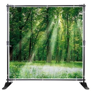 Winspin Repeat Backdrop Banner Stand Telescopic Trade Show Wall Exhibitor