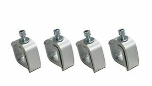 Set Of 4 Mounting C Clamps Aluminum White Non Drilling Truck Rack Camper New