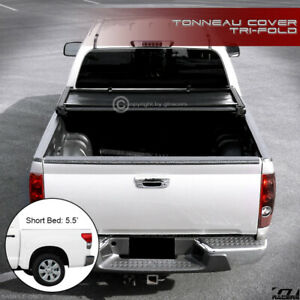For 2007 2016 Toyota Tundra 5 5 66 Short Bed Tri Fold Soft Vinyl Tonneau Cover