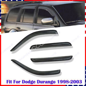 For Dodge Durango 1998 2001 2002 2003 Window Visor Shade Visors Cover Trim Style