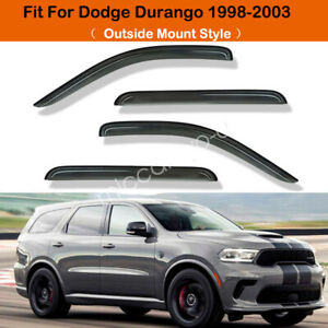 For 1998 1999 2000 2003 Dodge Durango Window Visor Rain Guard Set Durable Shade