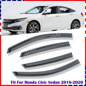 For Honda Civic 4dr 2006 2007 2008 2009 2010 2011 Window Visor Weather Shield