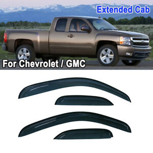 Fit For Chevy Silverado Extended Cab 08 12 Window Visor Rain Guard Slim Style