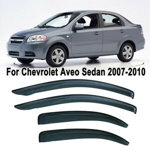For 07 10 Chevy Aveo T250 Smoke Tint Window Visor Shade Vent Wind Rain Deflector