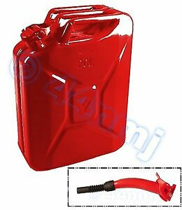 20lt Metal Jerry Can Spout For Fuel Petrol Diesel Red