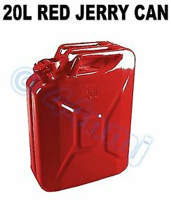 20lt Jerry Can Army Metal Store Fuel Petrol Diesel Red