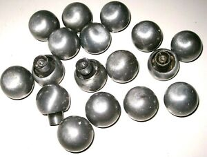 Lot Of 17 Vintage Silver Chrome Dresser Desk Drawer Door Mushroom Knob Handles