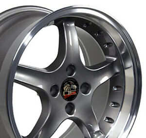 Npp Fit 17x9 17x8 Wheels Ford Mustang Cobra R Style Anthracite Wheels Set