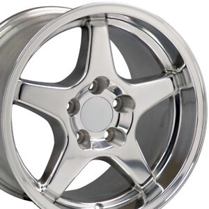 Npp Fit 17 9 5 11 Polished Corvette Zr1 Style Style Wheels Wheels Camaro