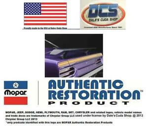 1970 Plymouth Road Runner Deck Lid Gold Reflective Stripe Kit