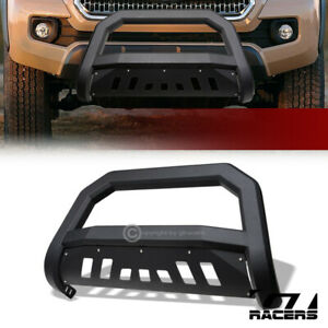 For 2016 2020 Toyota Tacoma Matte Blk Avt Edge Bull Bar Push Bumper Grille Guard