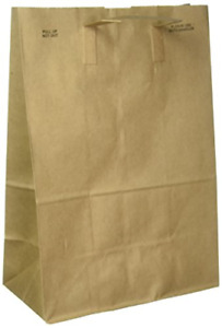 Paper Retail Grocery Bags With Handles 12 X 7 X 17 Inches 50 count Brown