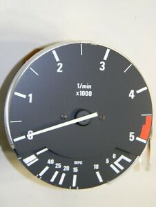 Bmw E30 318i 325e Tachometer Revolution Counter Fuel Economy 5000 Rpm Vdo