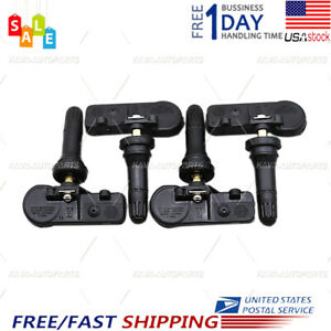 Set Of 4 New For Ford Tire Pressure Sensors De8t 1a180 Aa Tpms