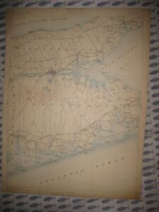 Antique 1904 Riverhead Southampton Westhampton Southold New York Map