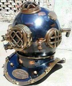Antique 18 Diving Vintage Boston Mark V U S Navy Deep Sea Divers Helmet Replica
