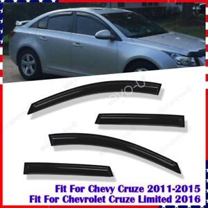 For Chevy Cruze 2011 2012 2013 2014 2015 Window Visor Rain Guard Shield Sun 4pcs