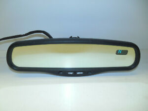 Gentex 010103 Rear View Mirror W Compass Auto Self Dimming Glass Nice Oem