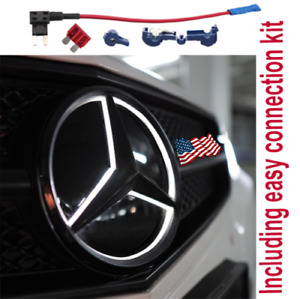 Mercedes Benz Led Eemblem Badge Star Logo Front Grill Shiny Black Glc Gls Gle